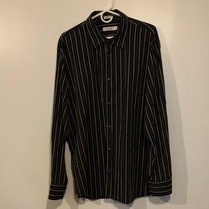 Men's XL Calvin Klein striped button down